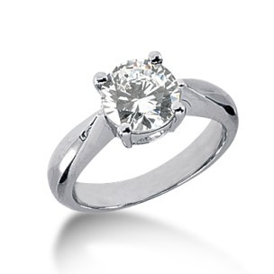 Round Cut 075 25 Carat Diamond Solitaire Engagement Ring