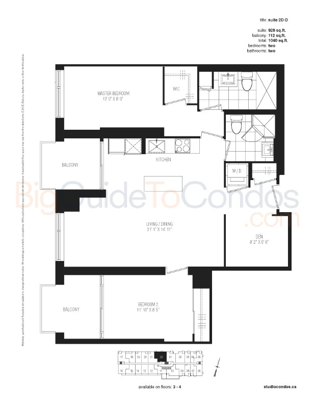 Studio Condos Reviews Pictures Floor Plans & Listings