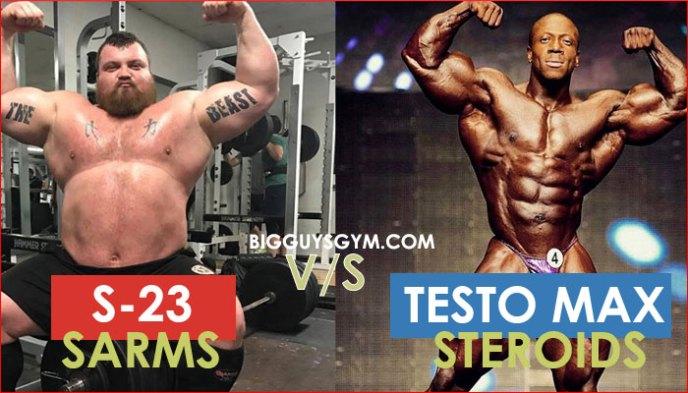 sarm s-23 vs steroids