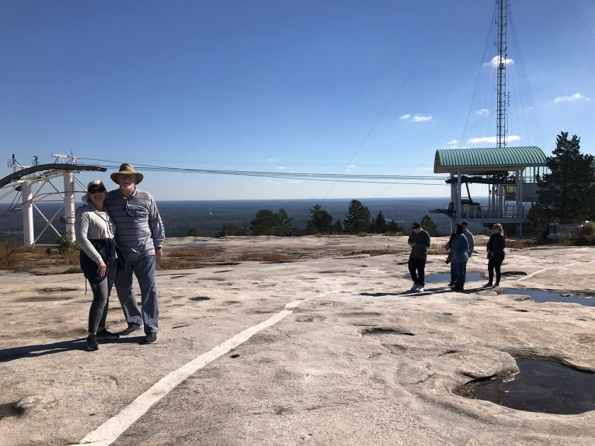 Retired Couple on top of Stone Mountain