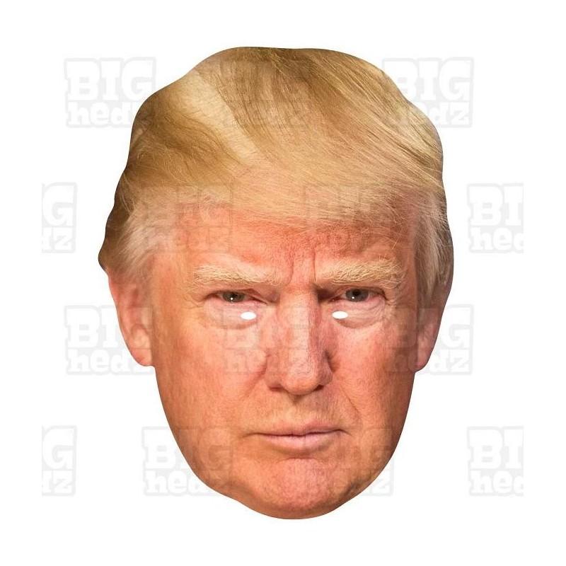 DONALD TRUMP BIG HEAD Card Face Mask Celebrity And