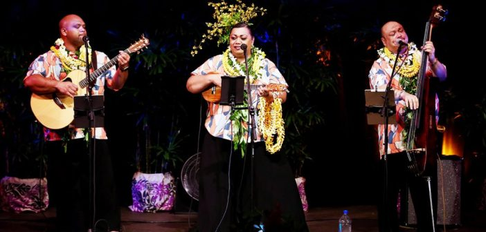 Backstage with Na Palapalai at the Hilo Palace Theatre
