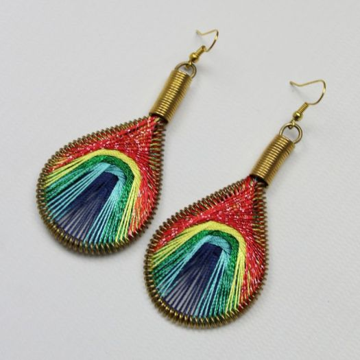 Handmade Drop Earrings Rainbow