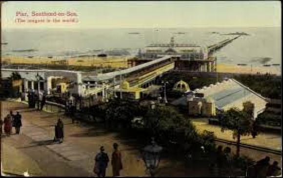pier postcard