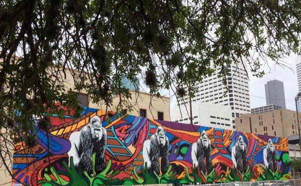Gorilla Art Mural Downtown Food Park 1311 Leeland Artist Gonzo247 1