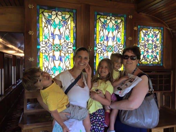 Amanda and Family at Rosenberg Railroad Museum
