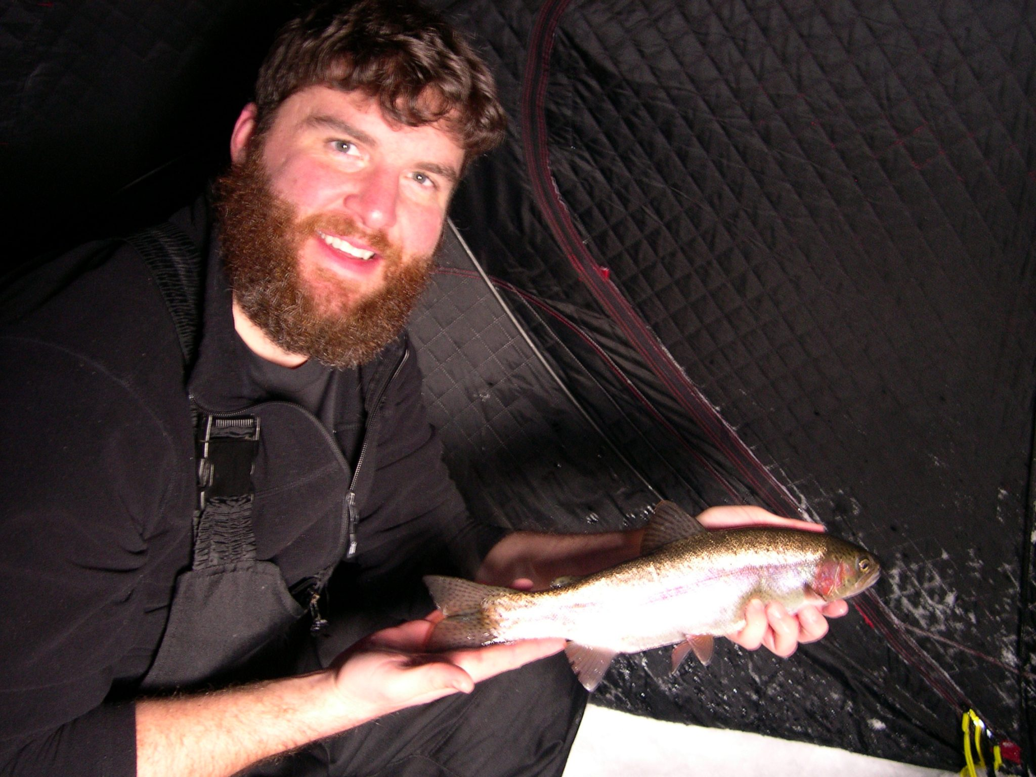 Ice Fishing Rainbow Trout Minnesota