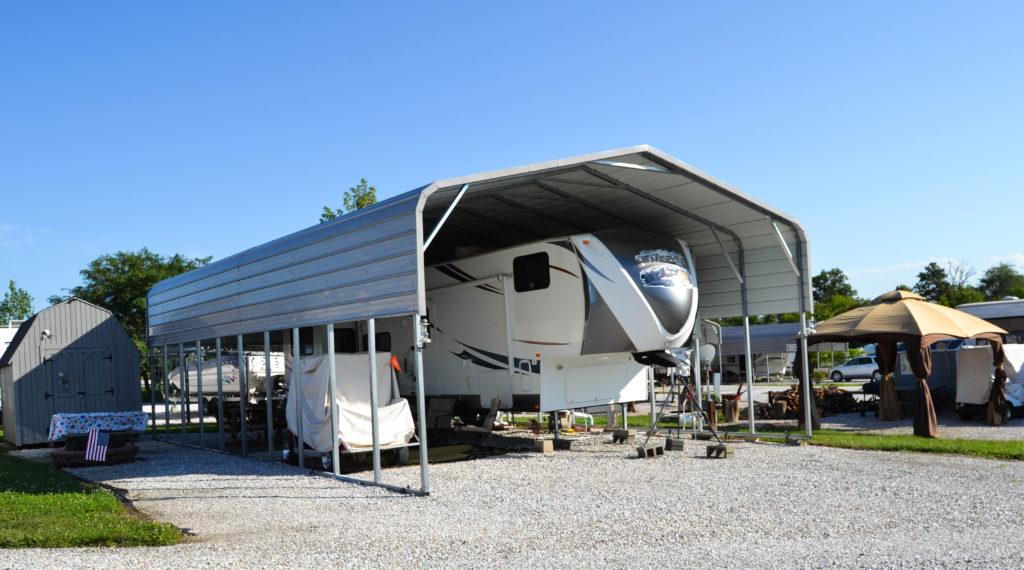 American Steel Carports  Big Larrys Campground