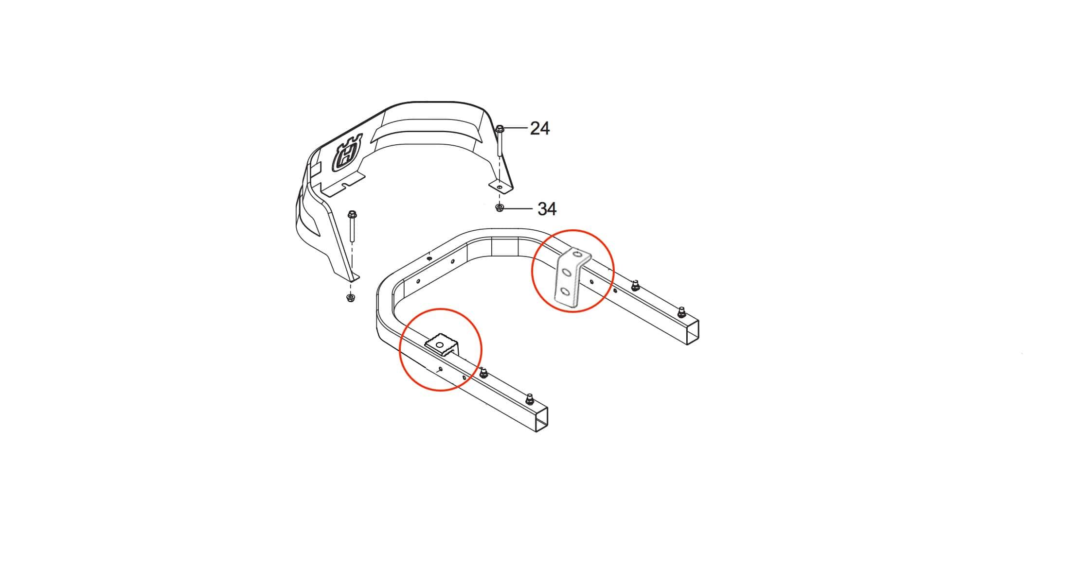 CheckMate™ Striping Kit for Husqvarna Z200 #HQZZTR36