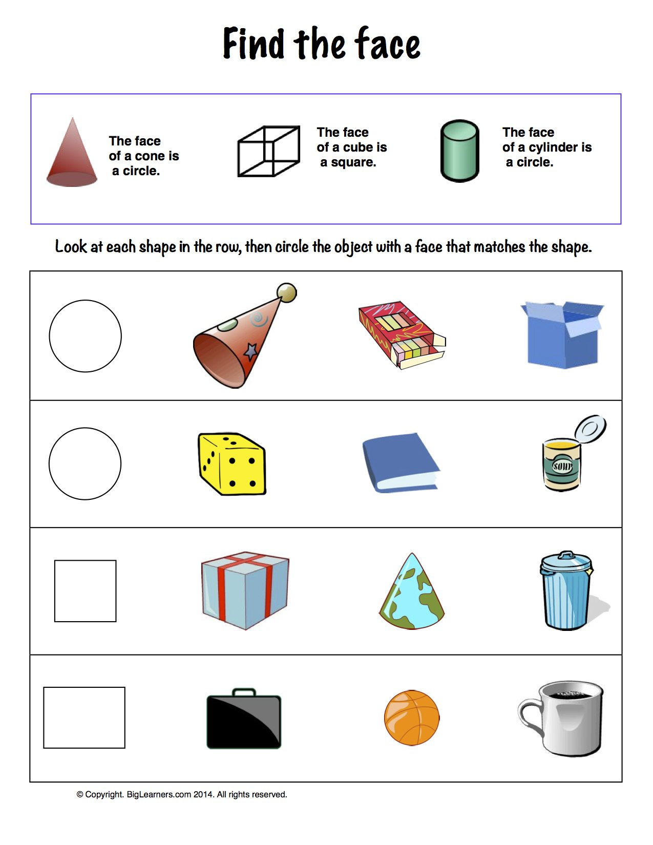 Worksheet Solid Shapes
