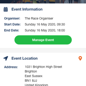 RaceNation - Running Event App