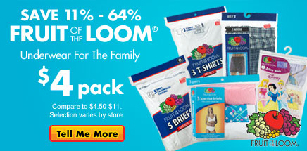Fruit of the Loom Buyout! $4 pack