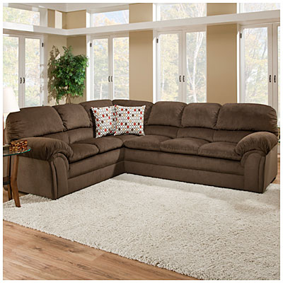 cleaning a fabric sofa white slipcover amazon simmons™ bebop 2-piece chocolate sectional | big lots