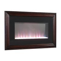 "36"" Wall Mount Wood Frame Electric Fireplace 