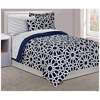 Dan River Twin Spiral Navy 6-Piece Bed-In-A-Bag | Big Lots