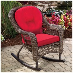 Patio Chair Cushions Big Lots Cb2 Leather View Wilson & Fisher® Charleston Resin Wicker Cushioned Rocker Deals At