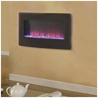 "36"" Wall Mount Electric Fireplace 