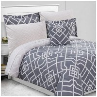 Trista Gray Queen 8-Piece Bed-In-A-Bag