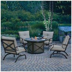 1 Piece Patio Chair Cushions Wegner Circle Replica Wilson & Fisher® Santa Fe 5-piece Fire Table Chat Set | Big Lots