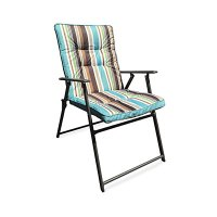 Wilson & Fisher Stripe Padded Outdoor Folding Chair | Big ...