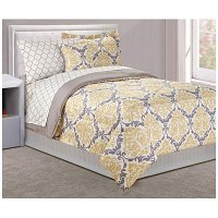Dan River Twin 6-Piece Yellow Damask Bed In A Bag | Big Lots