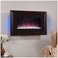 "View 36"" Wall Mount Wood Frame Electric Fireplace Deals at ..."