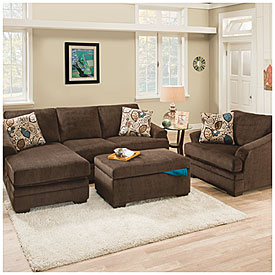 simmons reversible chaise sofa gold sofas for sale simmons® sunflower brown with   big ...