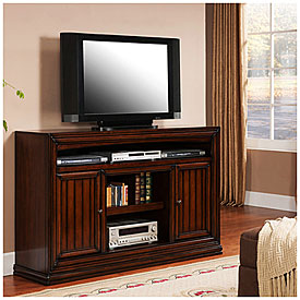 60 Cherry Planked TV Stand Big Lots
