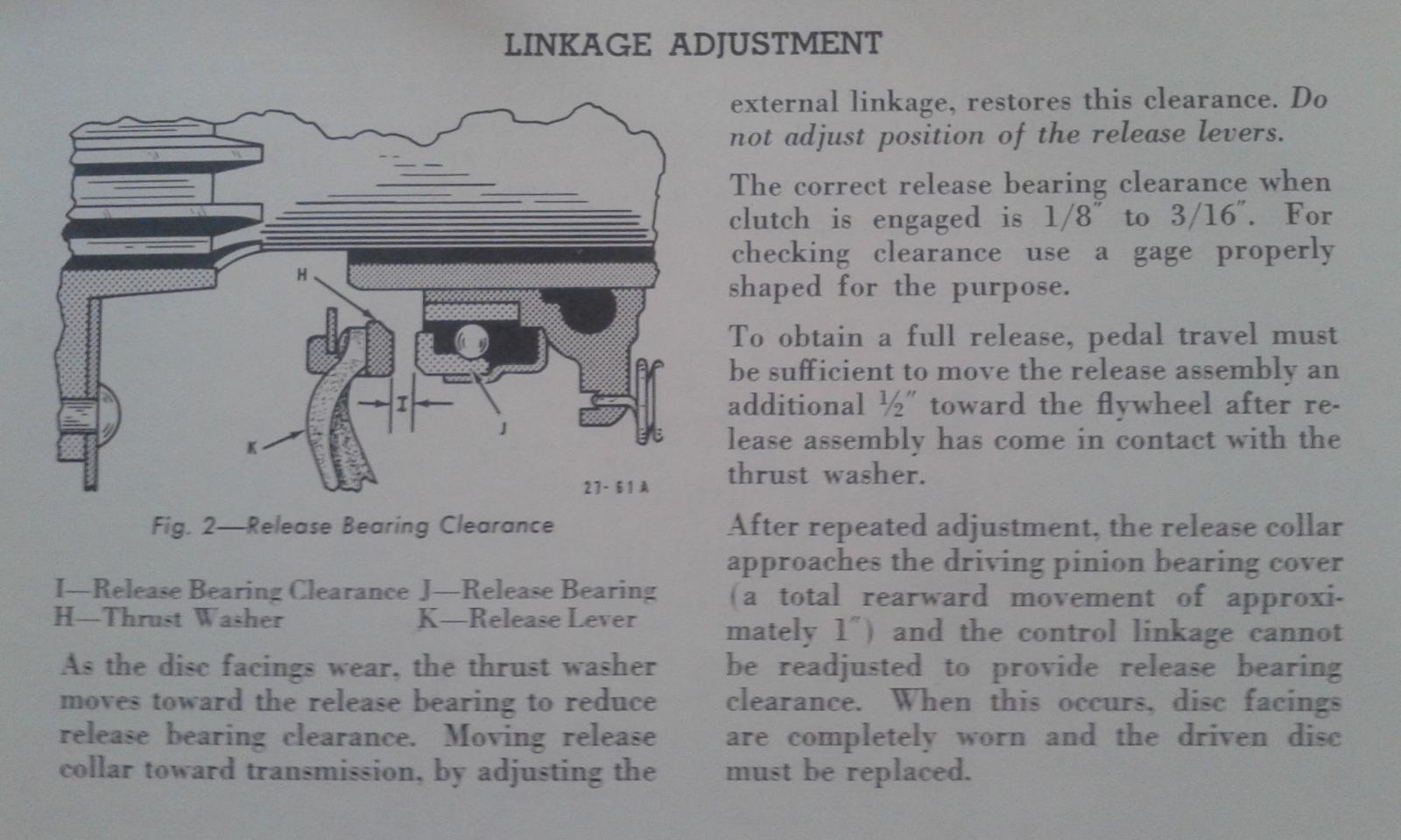 Clutch Adjustment