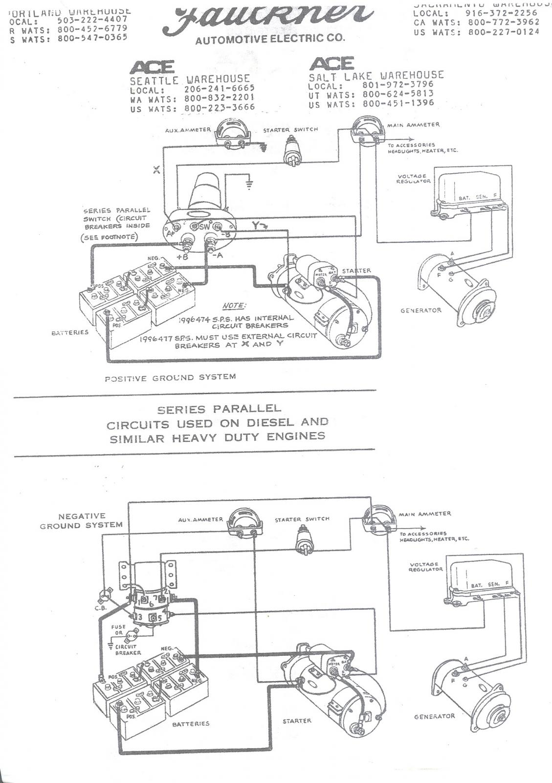 Delco Wiring Schematic Wiring Schematic For Series Parallel Switch Antique