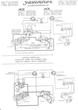 Wiring schematic for Series Parallel switch  Antique