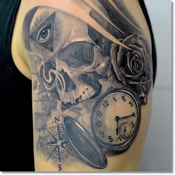 Skull-pocket-watch-tattoo-ideas
