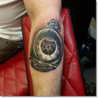 pocket-watch-tattoo-on-forearm
