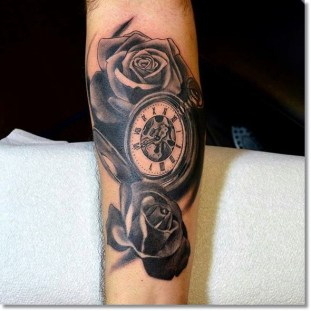 rose-and-pocket-watch-tattoo-black-and-grey