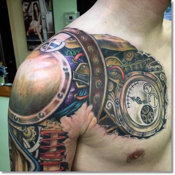 steampunk-mechanical-pocket-watch-tattoos