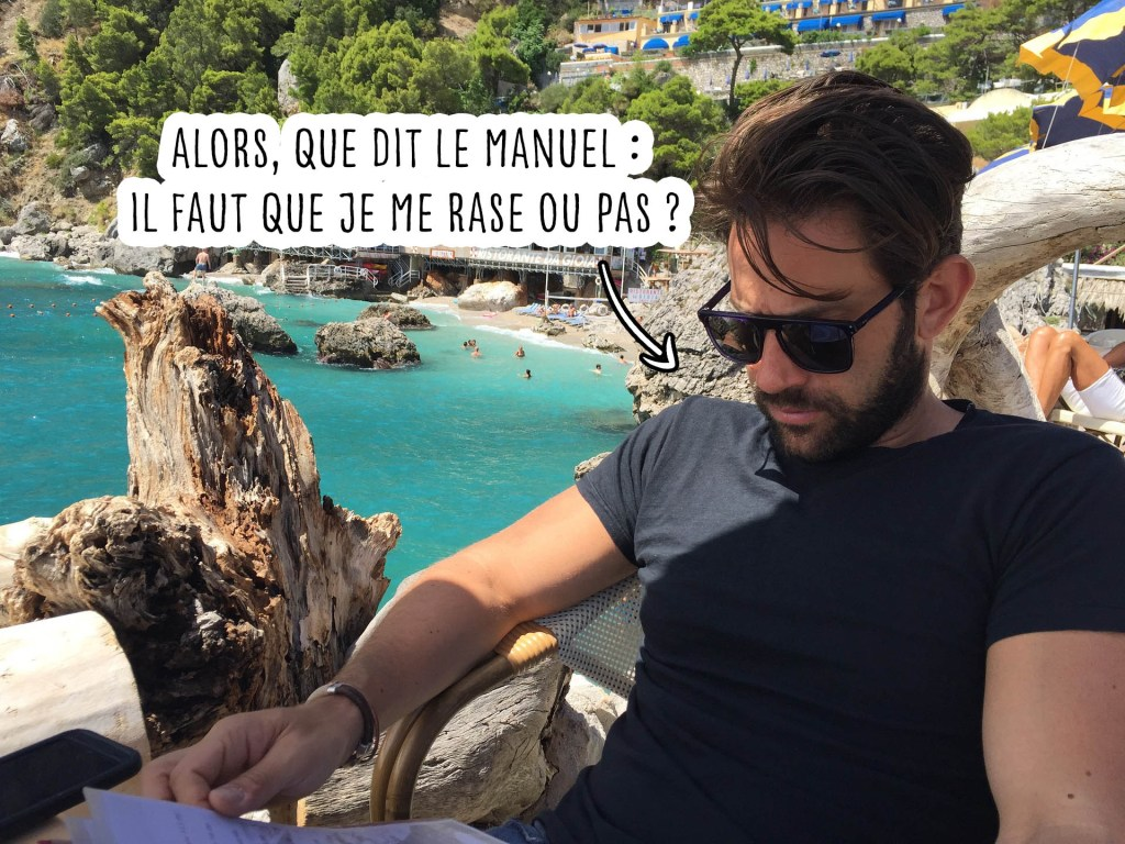 homme barbe vacances