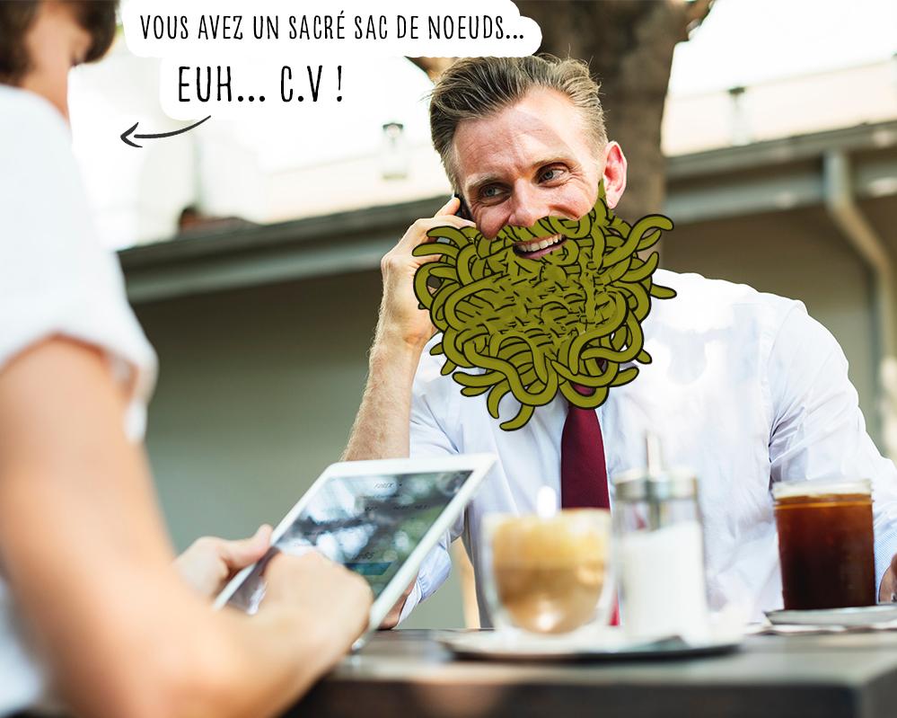 Comment éviter nœuds dans la barbe