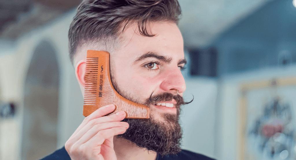 peigne taille barbe contours