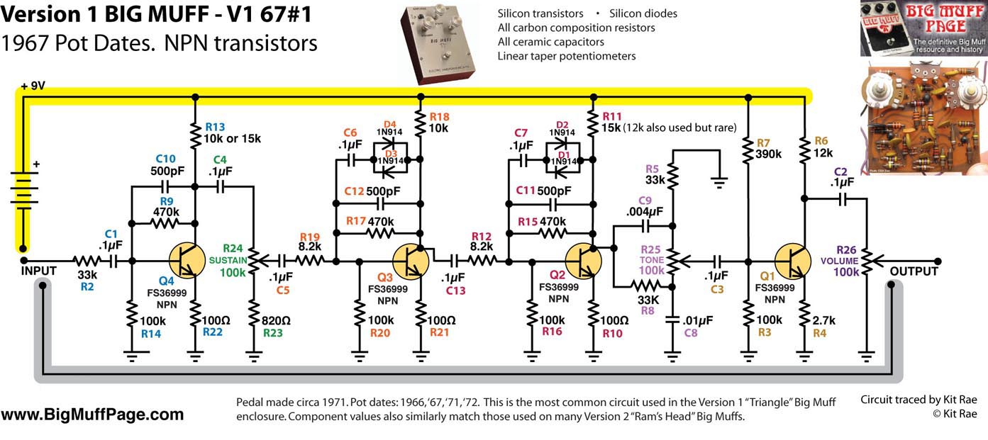 hight resolution of ace tone fuzz master fm 3 a rare early clone of the v1 big muff circa 1971 73 and one of the first modified bmp circuits this is a little known clone