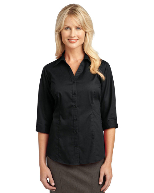 Port Authority Ladies 3/4-Sleeve Blouse. L6290