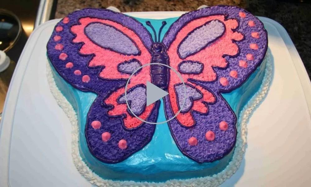 Come fare una torta a forma di farfalla il video  Bigodino