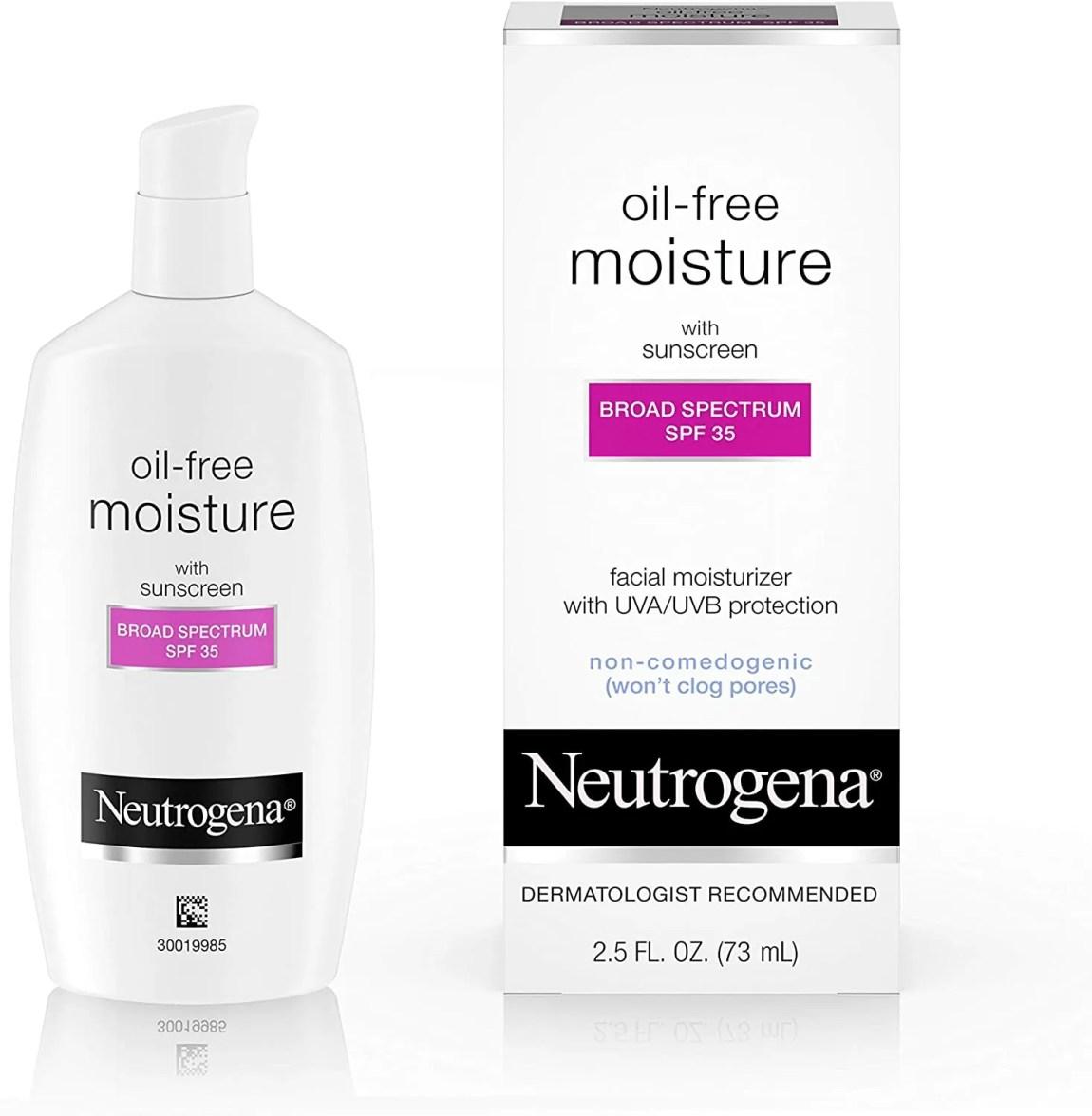 Moisturizing oil-free sunscreen 35 Neutrogena
