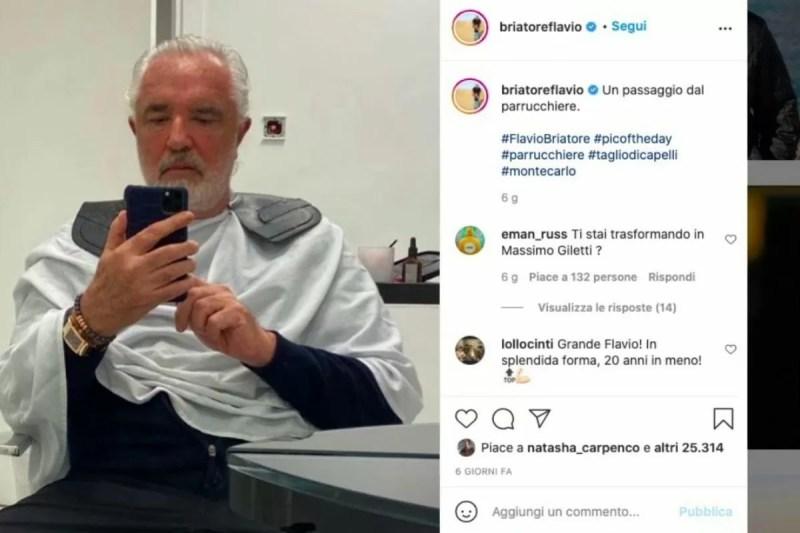 Flavio Briatore nuovo look