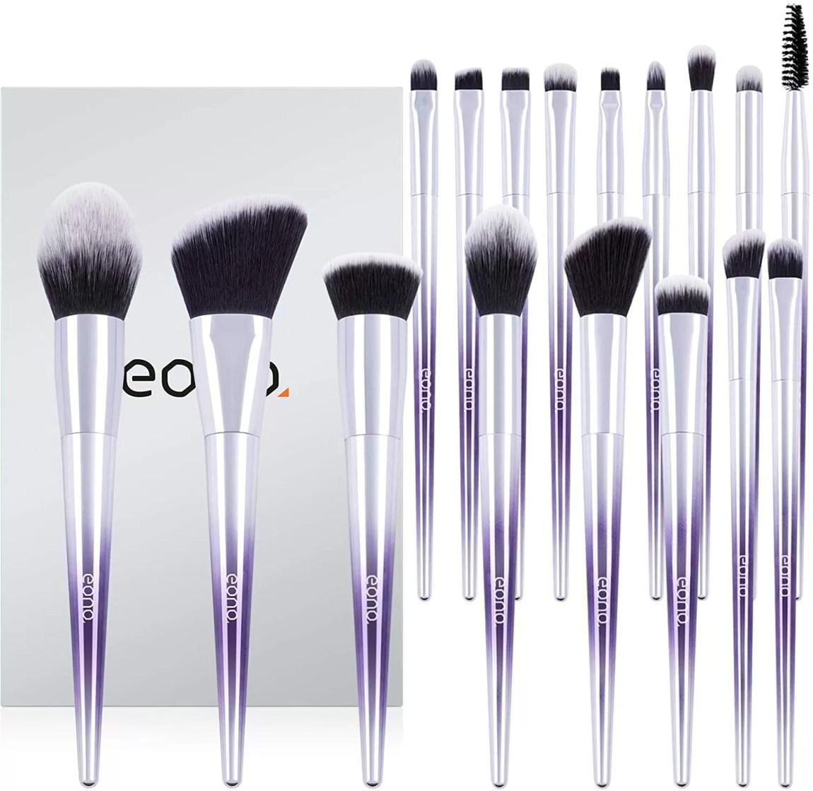Eono Vegan Make Up Brushes Set 17Pcs