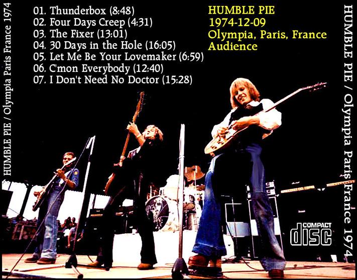 roio  Blog Archive  HUMBLE PIE  PARIS 1974