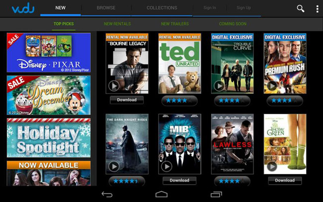 VUDU Launches Android App BigPictureBigSound