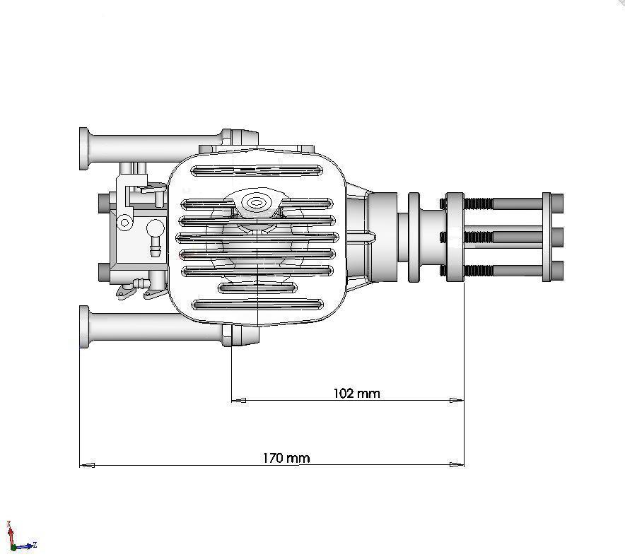 DLE55 55cc rc model gas engine (5.2hp, 1650gr)