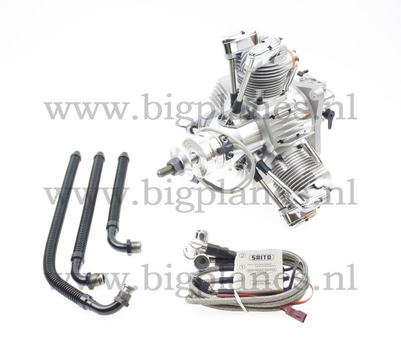 SAITO FG-90R3 90cc Radial gas engine (hp, 3500gr)