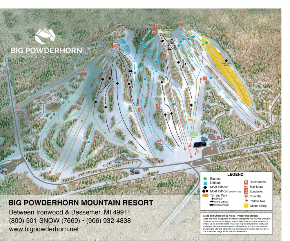 Big Powderhorn Trail Map