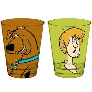 2 Copos Caldereta Scooby-doo E Salsicha Vidro 312ml